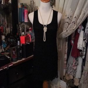 LOVE SPRAY BLACK LACE DRESS 👗 SZ MEDIUM